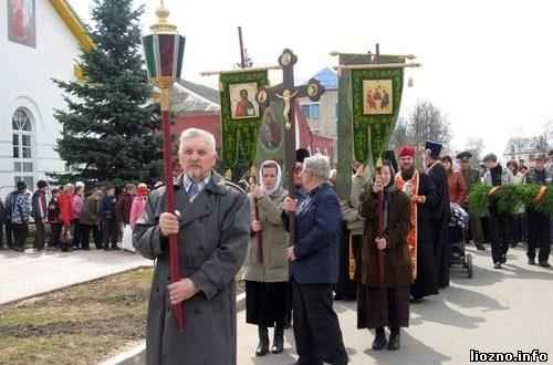 Крестный ход в Лиозно посвященный 65-летию Великой Победы