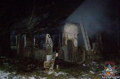 Загорелся частный дом