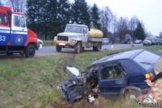 Столкнулись грузовик и Volkswagen