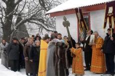Первое богослужение провёл благочинный Лиозненского района иерей Вячеслав