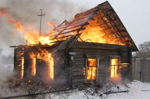 Пожар в деревне Сутоки