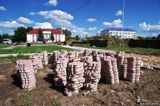 В Лиозно к «Дажынкам» срубили «пальмы» и посадили туи