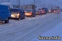 В Лиозно выпало много снега