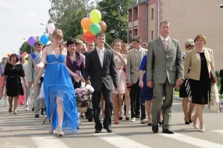 Лиозно - Парад выпускников 2012