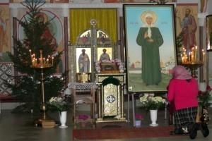 Икона с частицей мощей Святой Блаженной Матроны Московской в лиозненском храме