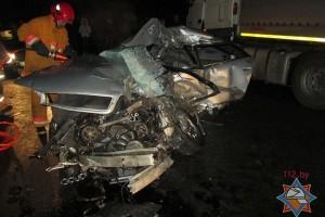 ДТП под Лиозно: Audi столкнулась с фурой