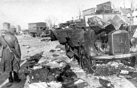 Уничтоженная немецкая колонна
