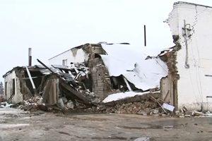 В Лиозненском районе обрушилась мастерская