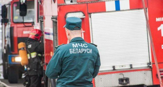 В Лиозненском районе горел магазин