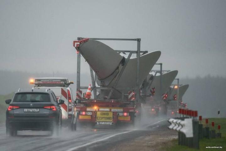 В лиозненский район доставили ветрогенератор из Германии