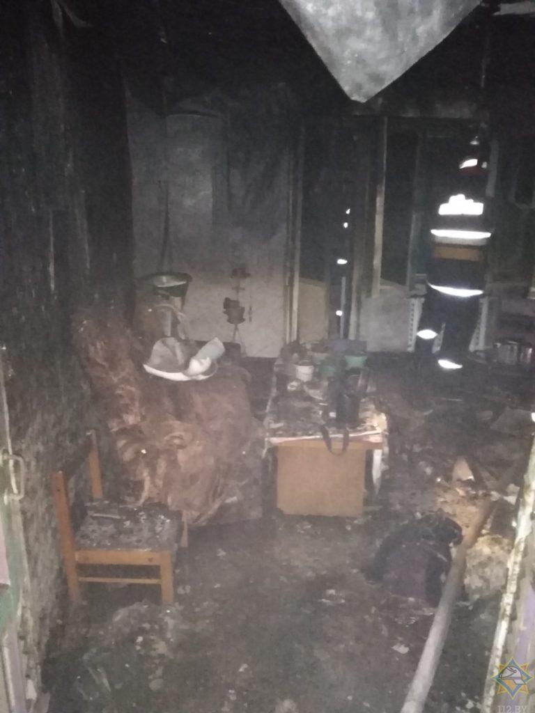 На пожаре в Лиозно погибли два человека