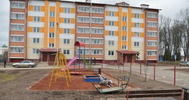 В Лиозно заселяется новый 40-квартирный дом