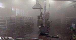 Возгорании коптильной печи в цеху ОАО «Молоко»